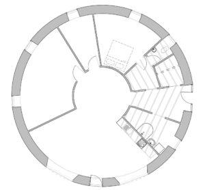 Rundbalshuset Planritning (endast hus)